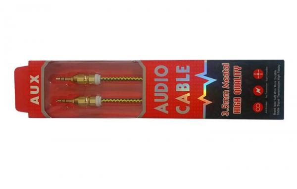 کابل کنفی MEATAL AUX سر طلایی فلزی