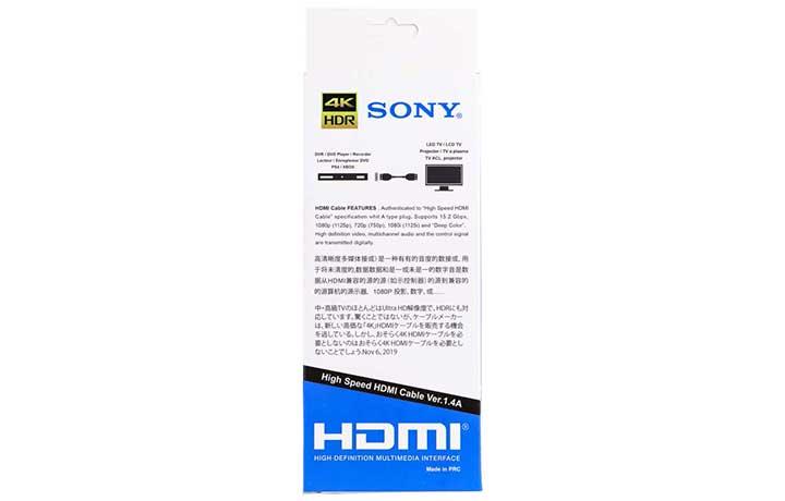 کابل Sony HDMI 1.8m 4K